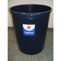 持ち手付きゴミ箱丸型8.1L ブルー N151J-B