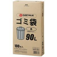ゴミ袋LDD黒90L 100枚 N138J-90