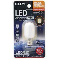 電球形LEDランプ ナツメ型LDT1L-G-E12-G101