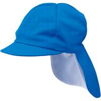 UVカット加工カラー帽子たれつき