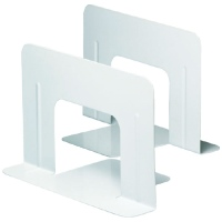 ブックエンド ワイド 1組(2枚) 白 DA-550-W