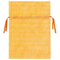 不織布リボン付き巾着袋 黄 L 10枚 FK3042