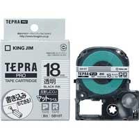 テプラPROテープマット透明/黒文字SB18T