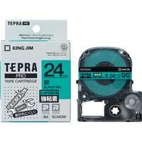 テプラPROテープ強粘着 緑/黒文字 SC24GW