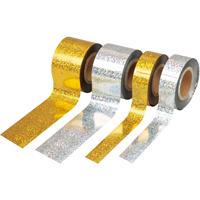 メッキテープホログラム 25mmX100m金