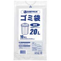 ゴミ袋 LDD 透明 20L 10枚 N208J-20