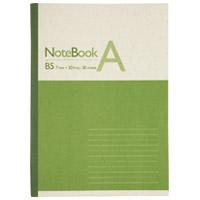 再生紙ノート セミB5 A罫1冊 P041J