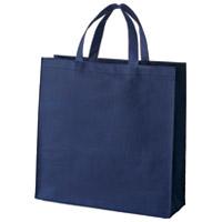不織布手提げバッグ小10枚ブルー B450J-BL