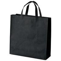 不織布手提げバッグ小10枚ブラックB450J-BK