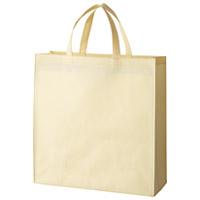 不織布手提げバッグ小10枚ベージュB450J-BE