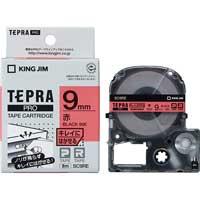 テプラPROテープ キレイ 赤/黒文字 SC9RE