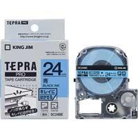 テプラPROテープ キレイ 青/黒文字 SC24BE