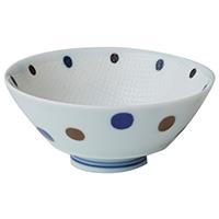 持ち易い茶碗 青ドッ5客セット JB2406-36