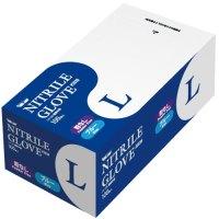 ニトリル極薄手袋 粉なし ブルーL 20箱
