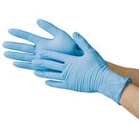 ニトリル極薄手袋 粉なし ブルーS 20箱