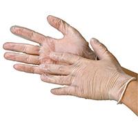 ビニール極薄手袋 粉つき S