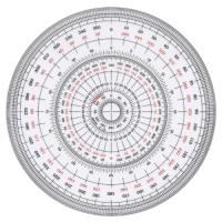 全円分度器 C-15 15cm