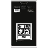 ポリゴミ袋 N-72 黒 70L 10枚