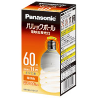 電球型蛍光灯 D60形 電球色 EFD15EL11EE17