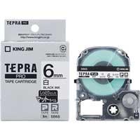 テプラPROテープ マット白/黒文字 SB6S
