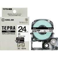 テプラPROテープ マット白/黒文字 SB24S