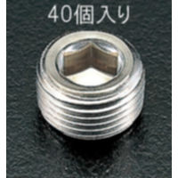 EA949GP-3 R3/8テーパーネジプラグSUS/40個