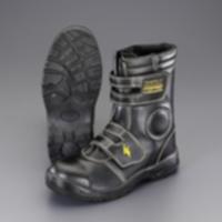 EA998YH-25 25.0cm静電安全靴(ロング/黒)