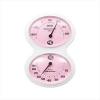 温湿度計ピンク 400-03A