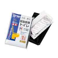 緊急携帯トイレ1P 493-06A