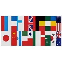 万国旗(20ケ国) 連続紐付10.0m