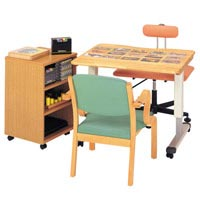 言語療法訓練テーブル GZ-900N(キャビ付)