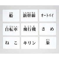言語訓練文字カード 生物・乗物 2214S-M