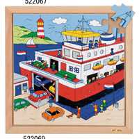 木製ジグソーパズル(港)  522069
