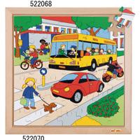 木製ジグソーパズル(交差点) 522070