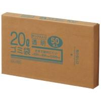 20Lゴミ袋 透明 ボックス入 50枚