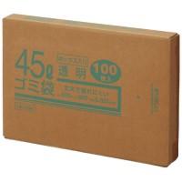45Lゴミ袋 透明 ボックス入 100枚