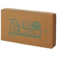 70Lゴミ袋 透明 ボックス入 100枚