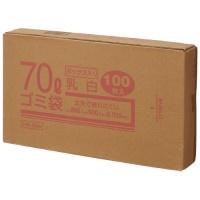 70Lゴミ袋 乳白 ボックス入 100枚