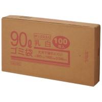 90Lゴミ袋 乳白 ボックス入 100枚