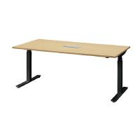 電動昇降テーブル FWD-B1890 ナチュラル