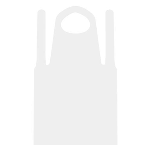 LDPE首掛け付袖無エプロン ホワイト 50枚_画像02