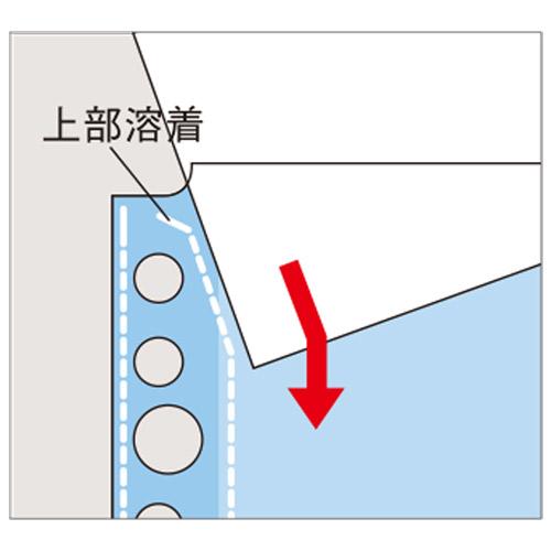 クリヤーポケット N-2102 A4S 30穴 10枚 黄_画像02