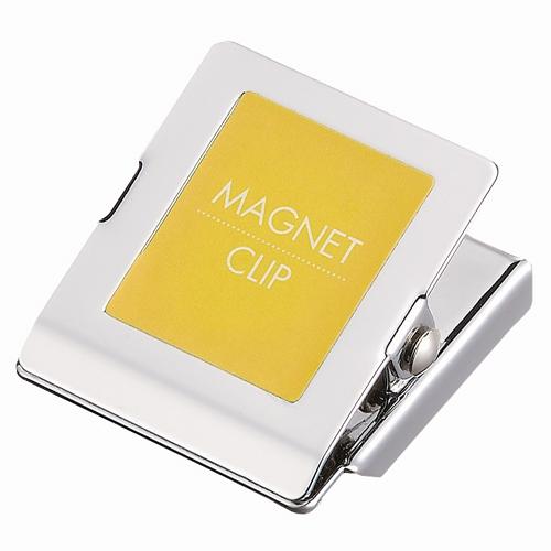 マグネットクリップ小 黄 10個 B147J-Y10_画像01