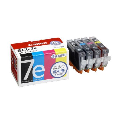 インクカートリッジ 4色 BCI-7E 4MP 3個_画像01