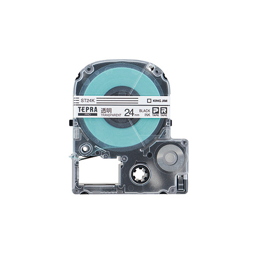 PROテープ ST24K-5P 透明に黒文字24mm 5個_画像02