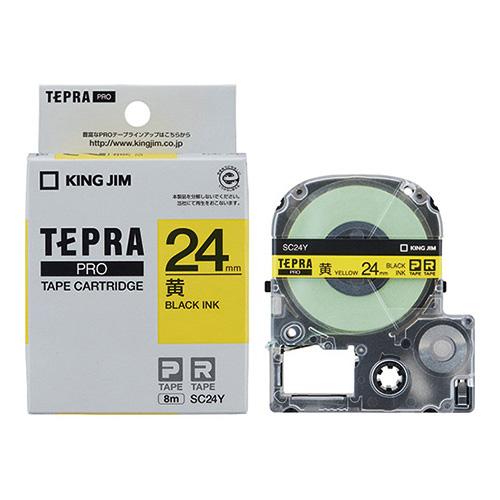 PROテープ SC24Y-5P 黄に黒字 24mm 5個_画像02