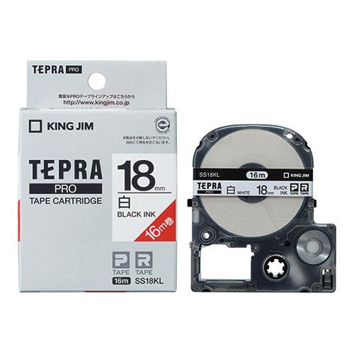 テプラPROテープSS18KL-5 白に黒字18mm 5個_画像01