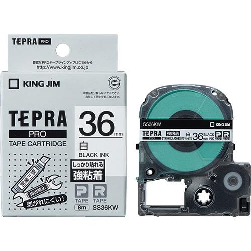 PROテープ強粘着 SS36KW 白に黒文字 36mm_画像01