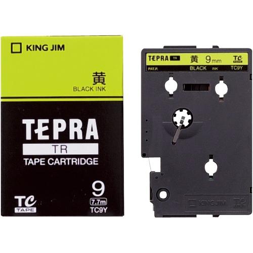 テプラTRテープ TC9Y 黄に黒文字 9mm_画像01