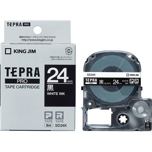 テプラPROテープ SD24K 黒に白文字 24mm_画像01
